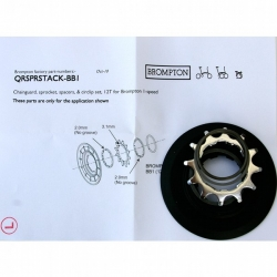 Brompton sprocket / disc set 12 tooth for single speed rear wheel