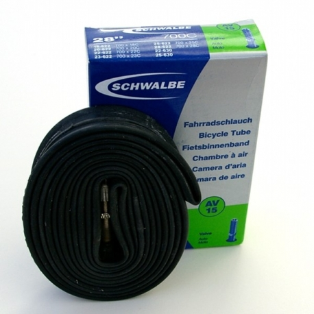 Inner tube 28 x 3/4 to 28 x 1 inch from Schwalbe - AV15 - schrader / car type valve