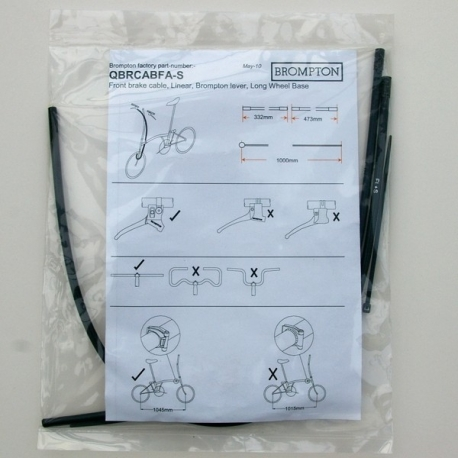 Brompton front brake cable for S type handlebar