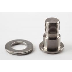 Brompton Pedal axle and bolt, left hand thread, TITANIUM