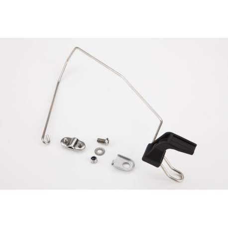 Brompton front mudguard stay titanium, complete with hook & fixings.