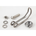 Wire form bracket and fittings for Brompton front dynamo lamp