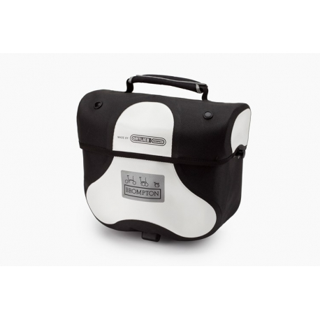 Brompton Mini Ortlieb bag - White - complete with frame and strap