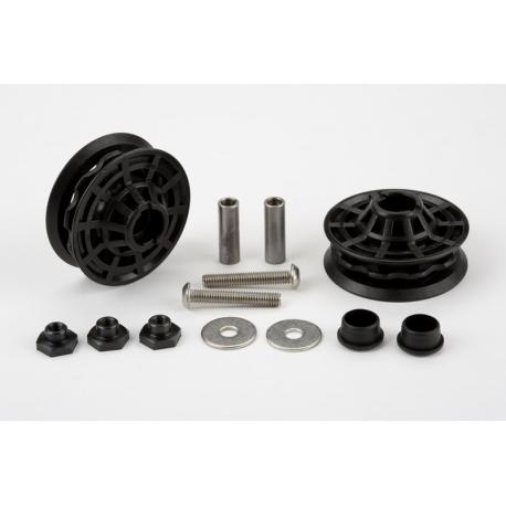 Brompton derailleur chain tensioner idler (jockey wheel) bearings / fixings set - pair - QCTIDLDRSET