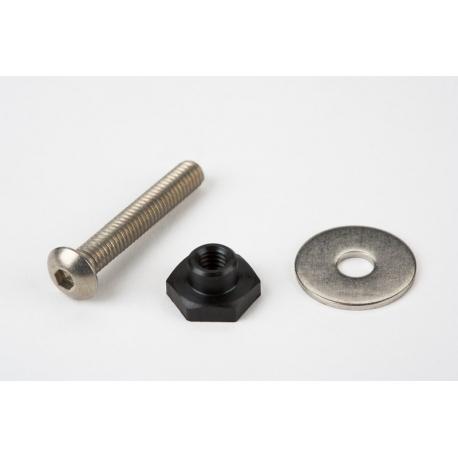 Derailleur chain tensioner idler (jockey wheel) nuts/bolts, single set