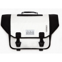 Pre-2016 Brompton Ortlieb bag, complete with frame and strap - white