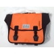 Brompton Ortlieb bag, complete with frame and strap - orange and black