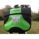 Brompton Mini Ortlieb bag - Apple Green, complete with frame and strap