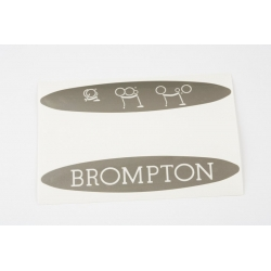 Brompton decal for superlight bikes