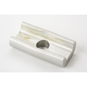 Brompton hinge clamp plate - silver