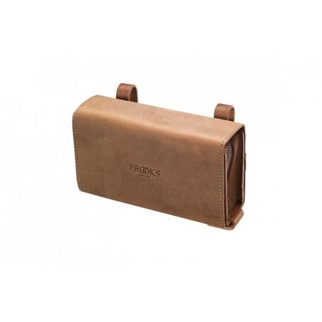 Brooks D shaped Tool Bag - Aged/Dark Tan
