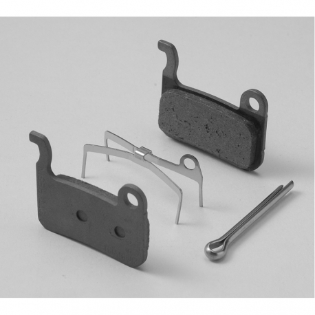 Shimano M07Ti resin pads with spring, titanium backed