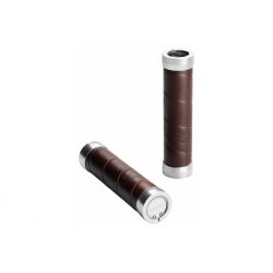Brooks slender leather grips - Brown (130mm)