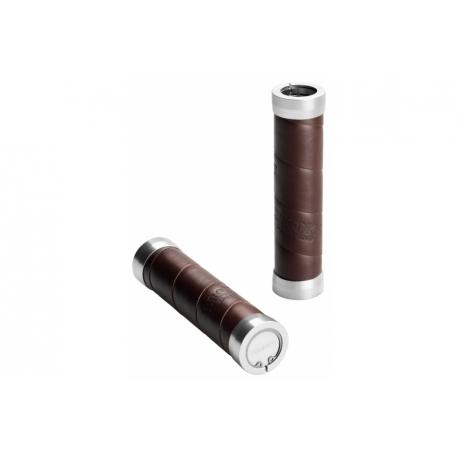Brooks slender leather grips - Brown (130mm)