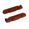 Road brake pad inserts from Fibrax - Xtreme - Red
