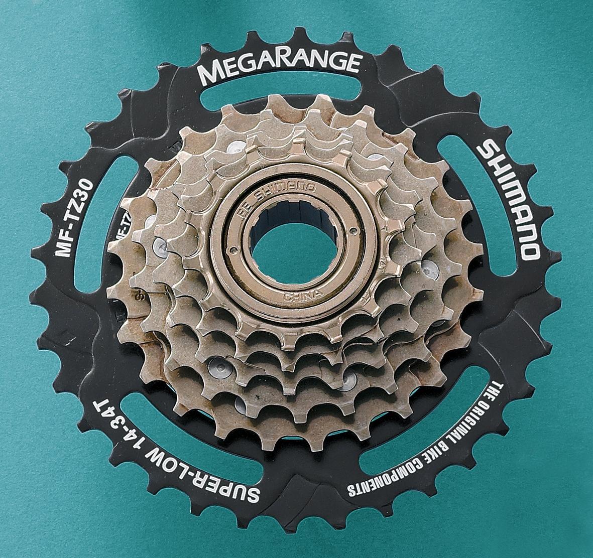 Sprockets And Cassettes Brilliant Bikes Sprocket Shimano Tz 31 Mf Tz30 6 Speed Freewheel 14 34t Megarange