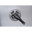 Shimano Deore 2 piece design chainset, 9-speed 44/32/22T black 175mm