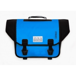 Brompton Ortlieb bag, Arctic Blue and Black - complete with frame and strap