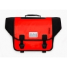 Brompton Ortlieb bag, Red and Black - complete with frame and strap