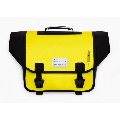 Brompton Ortlieb bag, Yellow and Black - complete with frame and strap
