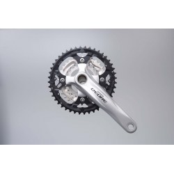Shimano FC-M590 Deore 2 piece design chainset, 9-speed - 44 / 32 / 22T silver 175 mm