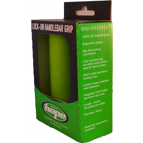 Hope SL Handlebar Grips (pair) - Green