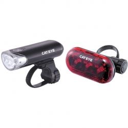 Cateye EL130 front and TL135 rear light set