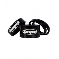 Hope headset spacers - Black - 5mm, 10mm and 20mm