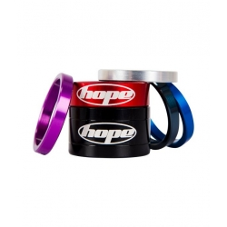 Hope headset spacers - Red - 5mm, 10mm and 20mm