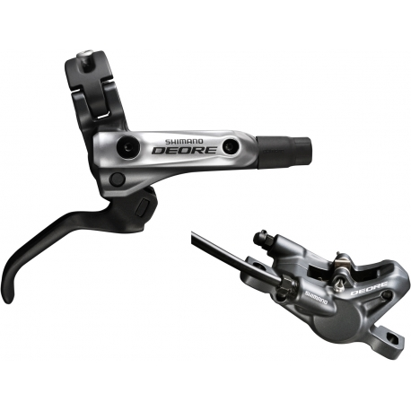 Shimano BR-M615 Deore bled I-spec-B compatible brake lever / Post mount calliper, front