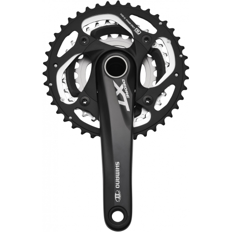 Shimano FC-M780 10-speed XT chainset HollowTech II - 42 / 32 / 24T 175 mm, black