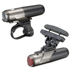 Cateye VOLT 300 front and VOLT 50 rear light set - rechargeable