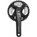 Shimano 10-speed XT chainset HollowTech II - 38/26T 175 mm, black