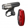 Cateye VOLT 300 front and RAPID X rear light set - rechargeable