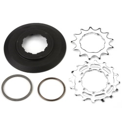Brompton sprocket stack for 6 speed BWR - laid out flat