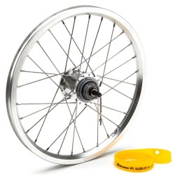 Brompton 3 speed rear wheel with Sturmey Archer hub