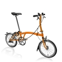 Brompton 2016 S3L Orange folding bicycle