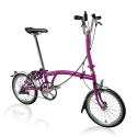 Brompton 2016 H3L Berry Crush folding bicycle