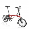 Brompton S2L Red / Black folding bicycle