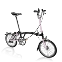 Brompton 2016 M3L Black / Cherry Blossom with mudguards