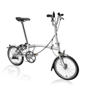 Brompton 2016 M3L White 3 speed folding bike with mudguards