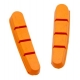 Halt Gooey Road Replacement Brake Pad Inserts - Orange