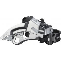 Shimano FD-M670-A SLX 10-speed triple front derailleur, top swing, dual-pull
