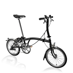 Brompton S3L Black with front carrier block