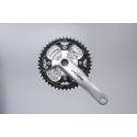 Shimano Deore 2 piece design chainset, 9-speed 48/36/26T silver 175mm