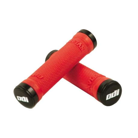 ODI Ruffian Lock-On Kit Red/Black 130mm