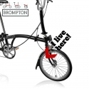 Brompton front mudguard stay steel, complete with hook and fixings.