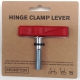 Brompton hinge clamp lever / bolt assembly - Red