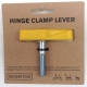Brompton hinge clamp lever / bolt assembly - Sunflower Yellow