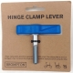 Brompton hinge clamp lever / bolt assembly - Blue